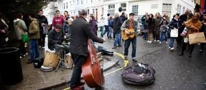Portobello Road Market, straatmuzikanten