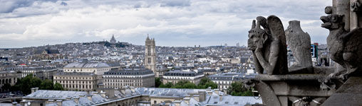 Waterspuwer op de Notre Dame, Parijs
