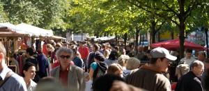 Markten in Berlijn: Trodelmarkt Boxhagener Platz