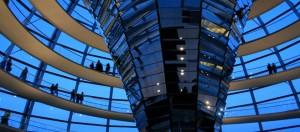De koepel van de Reichstag in Berlijn